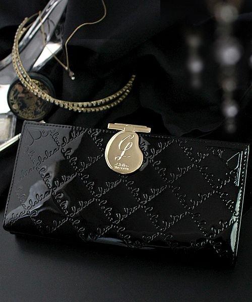 4e752ad0ab1f Clelia(クレリア)/長財布 レディース がま口 大容量 ブランド エナメル フラップ がま口長