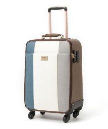 Clelia/キャリーバッグ レディース 4輪 TSAロック キャリーケース 大容量 旅行 出張 トリコロール スーツケース/501511023