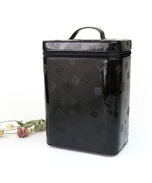 Clelia(クレリア)/メイクボックス 縦型 大容量 エナメル コスメ収納 収納ボックス 縦長 バニティバッグ/clelia-62108