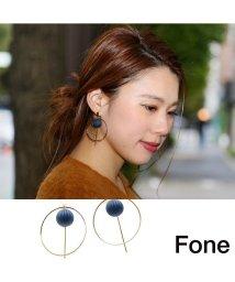 fone/Fone サークルモチーフピアス  NAVY/501511795