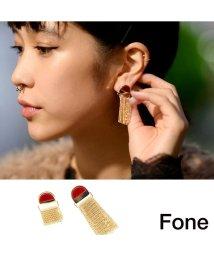 fone/Fone アシメフリンジピアス  WINE 17SU-I/501511826