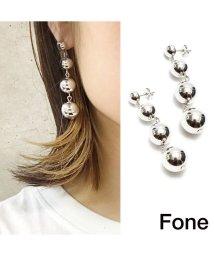 fone/Fone ボールチェーンピアスSILVER 17SU-I/501511837