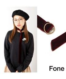 fone/Fone ベルベットチョーカー  BURGANDY 17SU-I/501511839