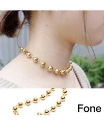 fone/Fone ボールチェーンネックレス  GOLD 17SU-I/501511844