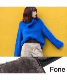 fone/Fone フェイクファーサッシュベルト  GRAY 17SU-I/501511881