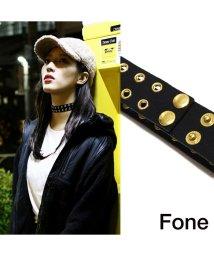fone/Fone アイレット チョーカー  BLACk×GOLD 17FA-I/501511960