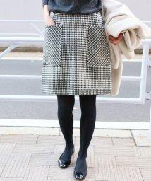 IENA/チェック台形スカート/501512926