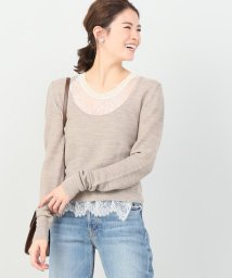 IENA/babaco leavers lace layered プルオーバー/501513238