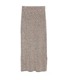 SNIDEL/メランジニットスカート/501514653