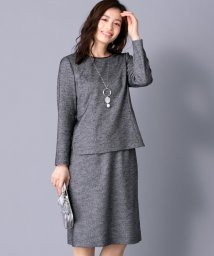 Leilian/千鳥格子ブラウススーツ/501471114