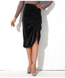 LATINA/サイドシャーリングドレープベルスカート/501497891