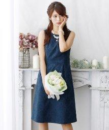 PourVous/【二次会ドレス・女子会対応】テキスタイルジャガードドレス/501504435