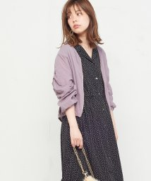 NICE CLAUP OUTLET/【natural couture】ギャザギャザライトブルゾン/501509777