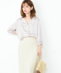 NICE CLAUP OUTLET/【natural couture】開襟ブラウス/501509778