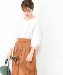 NICE CLAUP OUTLET/【natural couture】バックフリルシャツブラウス/501509779