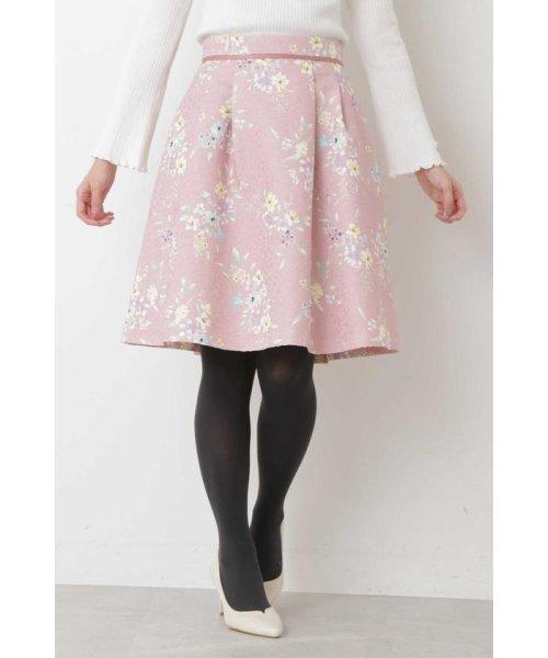 PROPORTION BODY DRESSING(プロポーション ボディドレッシング)/フラワータックジャガードスカート/1219120008