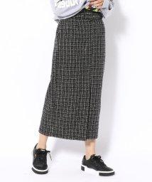 RoyalFlash/SUGAR ROSE/シュガーローズ/ウール混ツイードタイトスカート/501514942