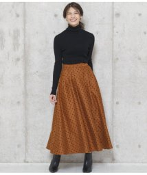AULI/ドットフロッキーマキシスカート/501515043