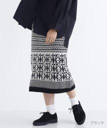 merlot/ノルディック柄ジャガードニットスカート/501515487