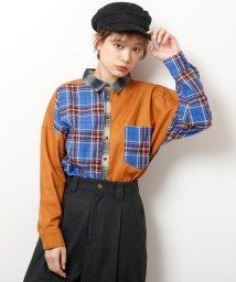 DOUBLE NAME/クレイジーネルチェックシャツ/501515723