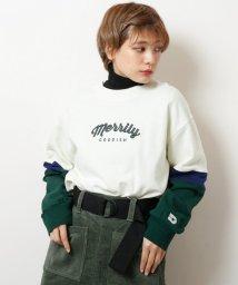 DOUBLE NAME/配色ロゴ刺繍プルオーバー/501515728