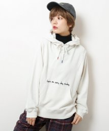 DOUBLE NAME/配色カラーチップロゴパーカー/501515730