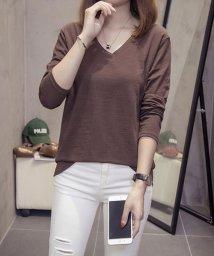 Afelice/Vネックカットソー 韓国 ファッション レディース かわいい シンプル オシャレ【A/W】【ra-2060】/501515772