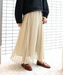 SLOBE IENA/《WEB限定予約》楊柳ドットプリーツスカート◆/501516305