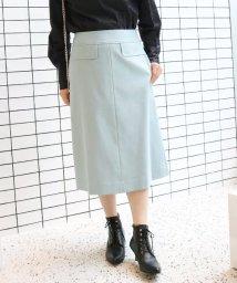 SLOBE IENA/サキソニーAラインスカート◆/501516306