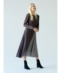 MIELIINVARIANT/カットコンビワンピース/Diagonal Cut Dress/501516319