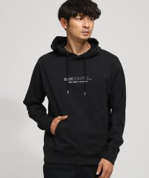 BASECONTROL/胸ロゴ 刺繍 プリント 天竺パーカー/501516462
