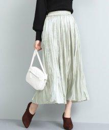 ViS/【泉里香さん着用】シャイニーサテンフェードアウトプリーツスカート/501516470