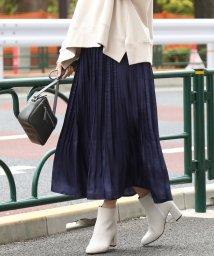 ViS/【ドラマ着用】シャイニーサテンフェードアウトプリーツスカート/501516470