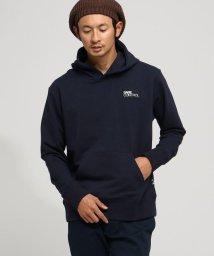 BASECONTROL/ストレッチ裏毛 胸BOXロゴ プルパーカー/501516517