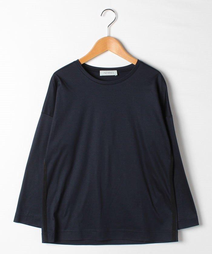 レリアン クルーネック長袖Tシャツ レディース ネイビー 9 【Leilian】