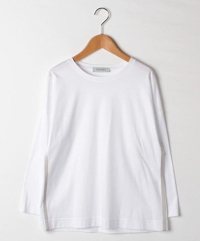 レリアンクルーネック長袖Tシャツレディースオフホワイト11【Leilian】