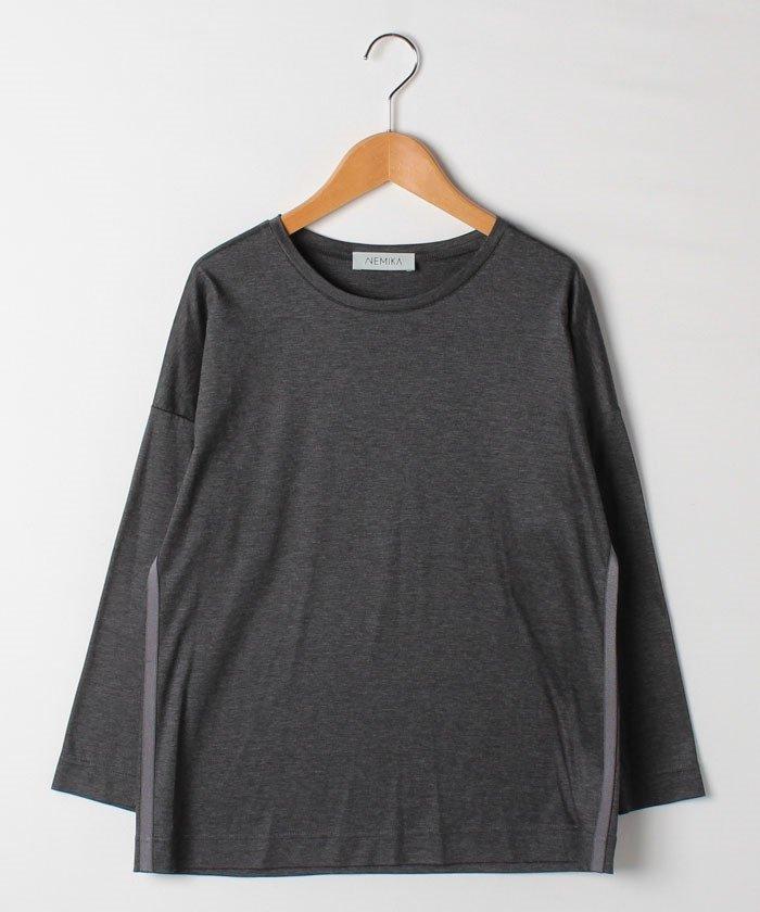 レリアンクルーネック長袖Tシャツレディースチャコールグレー11【Leilian】
