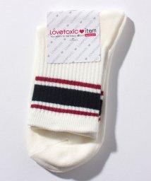 Lovetoxic/太ラインクルーソックス/501505062