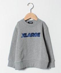 XLARGE KIDS/チェックロゴ裏毛トレーナー/501505075