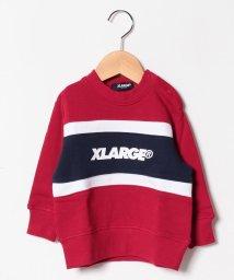 XLARGE KIDS/配色切り替えロゴ裏毛トレーナー/501505076