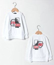XLARGE KIDS/切り替えOGゴリラプリント裏毛トレーナー/501505079