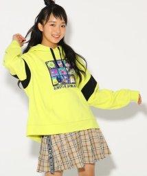 PINK-latte/★ニコラ掲載★転写フード付袖切替 トップス/501517135
