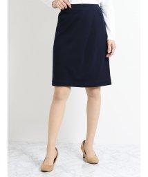 TAKA-Q/ストレッチウォッシャブル モクロディーセットアップスカート 紺/501184658