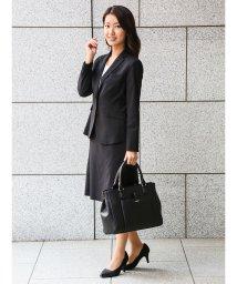 TAKA-Q/ストレッチウォッシャブル セットアップフレアースカート 黒/501184660