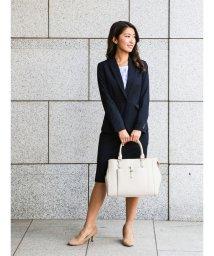 TAKA-Q/ストレッチウォッシャブル セットアップタイトスカート 紺/501184662