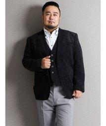 GRAND-BACK/【大きいサイズ】ポリナイロンコール2釦シングルセットアップジャケット/501302914