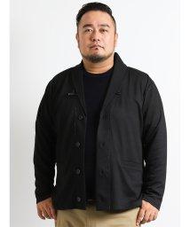 GRAND-BACK/【大きいサイズ】切替ジャガードショールカーディガン/501303092