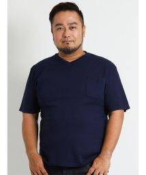GRAND-BACK/【大きいサイズ】Real Masters (リアル マスターズ) ストレッチVネック半袖Tシャツ/501303104