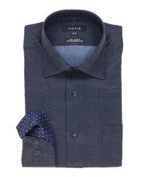 TAKA-Q/形態安定レギュラーフィットワイドカラー長袖ビジネスドレスシャツ/501303107