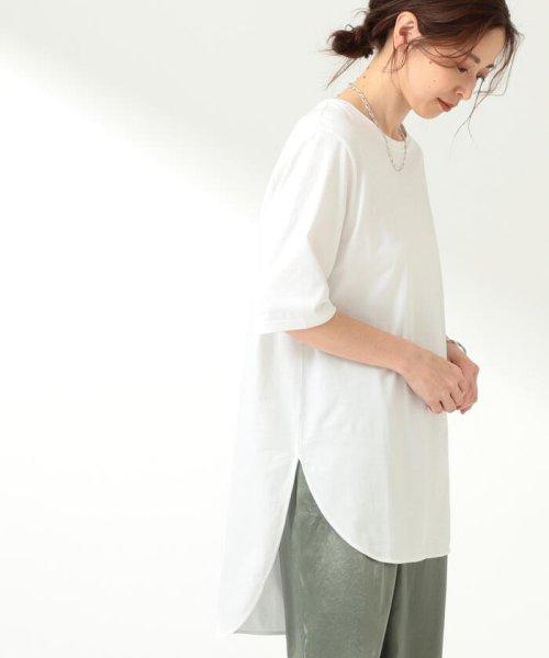 Demi-Luxe BEAMS(デミルクスビームス)/ATON / スビン ラウンドヘム Tシャツ/64040198967